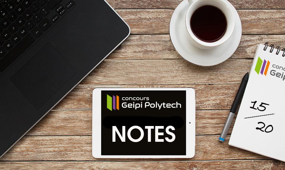 Consultez vos notes obtenues au concours Geipi Polytech 2019